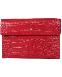 McQ Clutch With Skull - Red