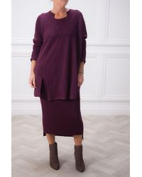 Crea Concept Long Knit - Purple