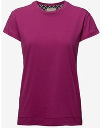 By Malene Birger Pink Soft Cotton Designer T-shirt Rionn