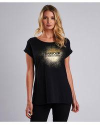 Barbour - Metallic Print T-shirt - Lyst