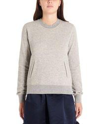 Comme des Garçons Comme Des Garã‡ons Women's Ndt0100511 Grey Cotton Sweatshirt