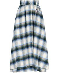 Golden Goose Deluxe Brand Women's Gwp00140p00018180429 Multicolour Viscose Skirt - Blue