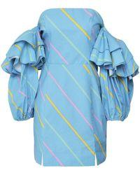 ROTATE BIRGER CHRISTENSEN Rotate 900697 Bethany Dress Colour: Blue