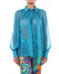 Alberta Ferretti Aqua Green Blouse - Blue