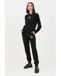 Versace Jeans Couture Pantaloni Donna Nero Modello Casual - Black