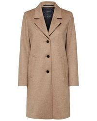 SELECTED Slfasja Wool Coat | Amphora | - Natural