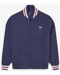 Fred Perry Fred Perry Made In England Bomber Jacket - Navy - Blue