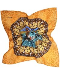Eton of Sweden - Virgin Wool Persian Pocket Square - Lyst