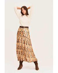 Ba&sh - Galina Long Silk Skirt - Lyst