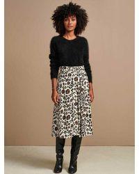 Bellerose Hudson Midi Skirt In Leopard - Multicolour
