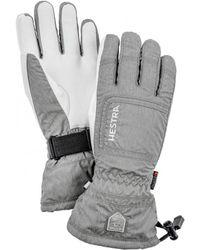 Hestra - Czone Powder Gloves Light Grey / Off White - Lyst