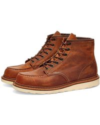 """Red Wing 1907 Heritage Work 6"""" Moc Toe Boot Copper Rough & Tough - Brown"""