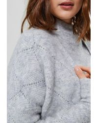 SELECTED Sif Ls Structure Knit Cardigan - Grey