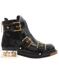 McQ Buckle Boots - Black