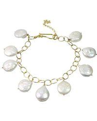 Alison Fern Jewellery Jacob Bracelet - Metallic