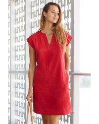 Aspiga Dori Premium Linen Dress   - Red