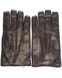 Alexander McQueen Men's 5858484b87q1000 Black Leather Gloves