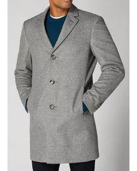 Remus Uomo Rueben Light Grey Overcoat