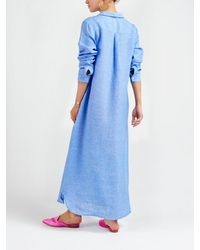 Nrby Chrissie Linen Maxi Dress - Blue