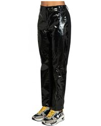 N°21 Faux Patent Leather Pants - Black