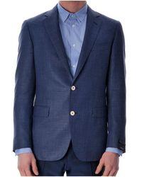 Pal Zileri Contrast Buttons Blazer - Blue