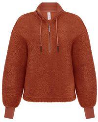 Varley Auburn Berea Half Zip Pullover - Orange