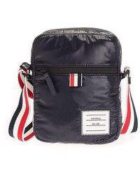 Thom Browne Men's Mag284a06553415 Blue Other Materials Messenger Bag