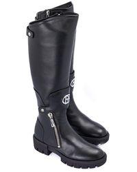 Baldinini Nappa Leather Boot - Black
