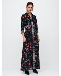 Hayley Menzies Siouxsie Silk Maxi Shirt Dress - Black
