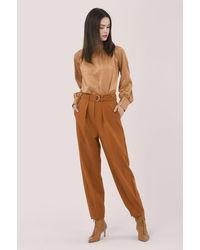 Closet Tan D-ring Waist Trousers - Brown