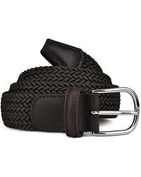 Andersons Andersons B0667 Woven Textile Belt Olive Green