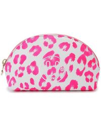 Hill & Friends Small Happy Embossed Cosmetics Bag - Pink