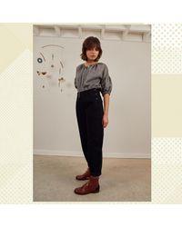 SIDELINE Pia Jeans Black Recycled Denim