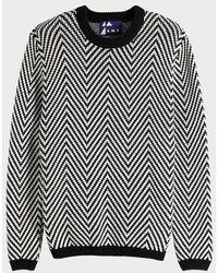 Scotch & Soda Pullover With Chevron Pattern - Black