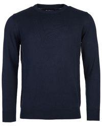 Barbour Pima Cotton Crew Neck Sweater - Blue
