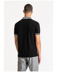 Antony Morato Geometric Collar Design Polo Colour: , - Black