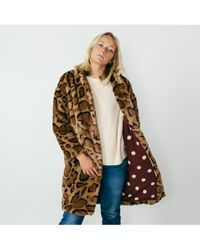 00f876b84d37 MICHAEL Michael Kors Women's Leopard Print Faux Fur Coat in Natural ...