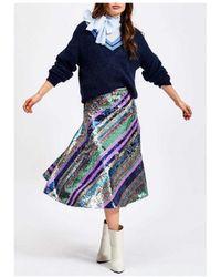 Essentiel Antwerp Salute Rainbow Sequin Skirt - Green