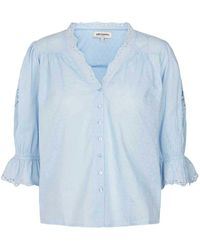 Lolly's Laundry Charlie Blouse In Light - Blue