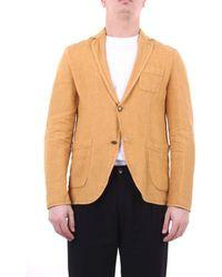 Officina 36 - Officina36 Jackets Blazer Men Ocher - Lyst