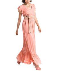 Patrizia Pepe Maxi Dress - Pink