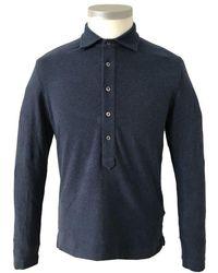 Circolo 1901 Melange Blue Long Sleeved Jersey Polo Cn2765