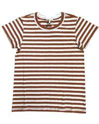 Rag & Bone The Slub Stripe Tee - Red