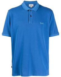 Woolrich Logo-embroidered Short-sleeve Polo Shirt - Blue