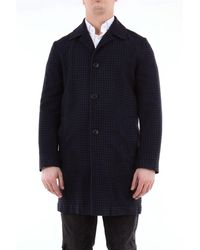 Altea - Single-breasted Checked Coat - Lyst