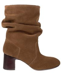 Chie Mihara Nasti Suede Boots - Brown