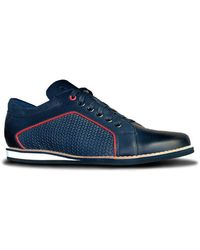 Lacuzzo Leather Trainer - - - 7 Shoe - Blue