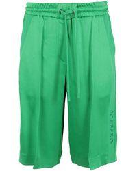 Iceberg Acetate Shorts - Green