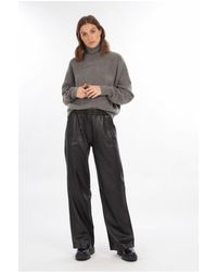 Oakwood Lia Leather Flare Pants - Black