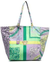 Versace Women's Dbfi004dnyst72l31v Purple Polyester Tote
